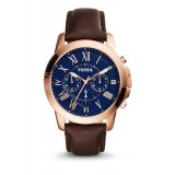 Fossil FS5068 Grant Chronograph Brown Leather Watch