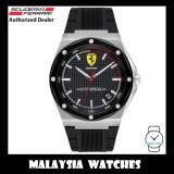 (100% Original) Scuderia Ferrari Men's 0830529 Aspire Black Dial Black Silicone Strap Watch (2 Years International Warranty)