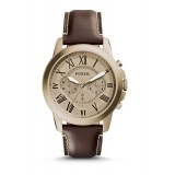 Fossil FS5107 Grant Chronograph Brown Leather Watch