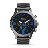 Fossil JR1478 Nate Chronograph Smoke Stainless Steel Watch