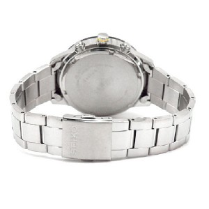Seiko Solar Quartz SSC335P1 Gents LEE HOM Criteria Chronograph Yellow & Black Dial Sapphire Crystal Glass Watch