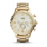 Fossil JR1479 Nate Chronograph Gold-Tone Stainless Steel Watch