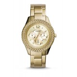 Fossil ES3589 Stella Multifunction Gold-Tone Stainless Steel Watch