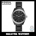 (OFFICIAL WARRANTY) Fossil Women's BQ3342 CALEIGH MULTIFUNCTION BLACK DIAL BLACK ACETATE STRAP(2 Years Fossil Warranty)