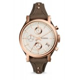 Fossil ES3818 Original Chronograph Leather Female Watch (Gray)