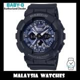 (OFFICIAL WARRANTY) Casio Baby-G BA-130-1A2 Standard Analog-Digital Black Resin Watch BA130-1A2 BA130-1A2DR BA-130-1A2DR