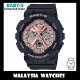 (OFFICIAL WARRANTY) Casio Baby-G BA-130-1A4 Standard Analog-Digital Black & Rose Gold Resin Watch BA130-1A4 BA130-1A4DR BA-130-1A4DR