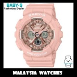 (OFFICIAL WARRANTY) Casio Baby-G BA-130-4A Standard Analog-Digital Pink Resin Watch BA130-4A BA130-4ADR BA-130-4ADR