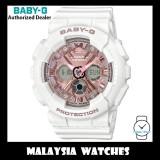 (OFFICIAL WARRANTY) Casio Baby-G BA-130-7A1 Standard Analog-Digital White & Rose Gold Resin Watch BA130-7A1 BA130-7A1DR BA-130-7A1DR