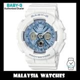 (OFFICIAL WARRANTY) Casio Baby-G BA-130-7A2 Standard Analog-Digital White & Blue Resin Watch BA130-7A2 BA130-7A2DR BA-130-7A2DR