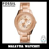 (OFFICIAL WARRANTY) Fossil ES3590 Stella Multifunction Rose-Tone Stainless Steel Watch