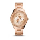 Fossil ES3590 Stella Multifunction Rose-Tone Stainless Steel Watch