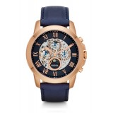 Fossil ME3029 Grant Automatic Navy Leather Watch