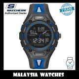 (OFFICIAL WARRANTY) Skechers SR1070 Men's Liberty Analog Digital Black & Blue Silicone Strap Sport Watch (2 Years Warranty)