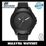 (OFFICIAL WARRANTY) Skechers SR5008 Men's Rosecrans Oversize XL Quartz Analog Full Black Silicone Strap Watch (2 Years Warranty)