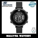 (OFFICIAL WARRANTY) Skechers SR6065 Magnolia Women's Quartz Digital Black Silicone Strap Watch (2 Years Warranty)