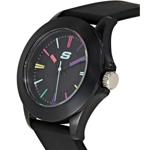 (OFFICIAL WARRANTY) Skechers SR6079 Rosencrans Mid-Size Quartz Analog Black Silicone Strap Watch (2 Years Warranty)