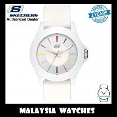 (OFFICIAL WARRANTY) Skechers SR6080 Rosencrans Mid-Size Quartz Analog White Silicone Strap Watch (2 Years Warranty)