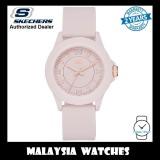 (OFFICIAL WARRANTY) Skechers SR6172 Women's Tennyson Quartz Analog Pink Silicone Strap Watch (2 Years Warranty)