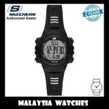 (OFFICIAL WARRANTY) Skechers SR6185 Women's Truro Quartz Digital Black Resin Strap Watch (2 Years Warranty)