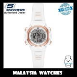 (OFFICIAL WARRANTY) Skechers SR6186 Women's Truro Quartz Digital White Resin Strap Watch (2 Years Warranty)