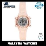 (OFFICIAL WARRANTY) Skechers SR6187 Women's Truro Quartz Digital Pink Resin Strap Watch (2 Years Warranty)