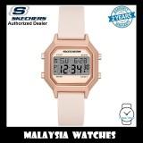 (OFFICIAL WARRANTY) Skechers SR6195 Faysmith Unisex / Women Retro Design Digital Blush Pink Silicone Strap Watch (2 Years Warranty)