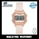 (OFFICIAL WARRANTY) Skechers SR6195 Faysmith Unisex/Woman Retro Design Digital Pink Silicon Strap Watch (2 Years Warranty)