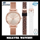 (OFFICIAL WARRANTY) Skechers SR9029 Women's Analog Quartz Rose Gold-Tone Mesh Bracelet Watch with 2 FREE Silicone Strap Gift Set (2 Years Warranty)