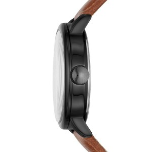 (OFFICIAL WARRANTY) Skechers SR9030 Men's Analog Quartz Brown Leather Strap with 2 FREE Silicone Strap Gift Set (2 Years Warranty)