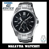 (OFFICIAL WARRANTY) Casio Edifice EFB-300D-1A Quartz Analog 100M Sapphire Glass Black Dial Stainless Steel Watch EFB300D EFB-300D-1AV EFB-300D-1AVDR