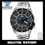 (OFFICIAL WARRANTY) Casio Edifice EF-130D-1A2 Quartz Analog 100M Black Dial Stainless Steel Men's Watch EF130D EF-130D-1A2V EF-130D-1A2VUDF