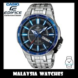 (OFFICIAL WARRANTY) Casio Edifice EFR-106D-1A2 Quartz Analog 100M Black / Blue Dial Stainless Steel Men's Watch EFR106D EFR-106D-1A2V EFR-106D-1A2VUDF