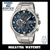 (OFFICIAL WARRANTY) Casio Edifice EFR-544D-1A2 Chronograph 100M Black & Blue Dial Stainless Steel Men's Watch EFR544D EFR-544D-1A2V EFR-544D-1A2VUDF