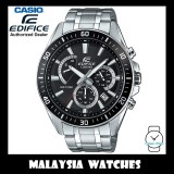 (OFFICIAL WARRANTY) Casio Edifice EFR-552D-1A Chronograph 100M Black Dial Stainless Steel Men's Watch EFR552D EFR-552D-1AV EFR-552D-1AVUDF