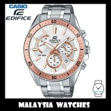(OFFICIAL WARRANTY) Casio Edifice EFR-552D-7A Chronograph 100M White / Rose Gold Dial Stainless Steel Men's Watch EFR552D EFR-552D-7AV EFR-552D-7AVUDF