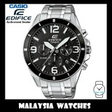 (OFFICIAL WARRANTY) Casio Edifice EFR-553D-1B Chronograph 100M Black Dial Stainless Steel Men's Watch EFR553D EFR-553D-1BV EFR-553D-1BVUDF
