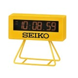 Seiko QHL062Y Standard Chartered Marathon Edition Timer & Alarm Clock (Yellow)