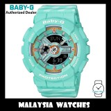 (OFFICIAL WARRANTY) Casio Baby-G BA-110CH-3A PUNTO IT DESIGN Analog Digital Pastel Blue Resin Sport Watch BA110CH BA-110CH BA110CH-3A BA-110CH-3ADR