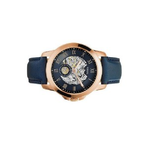 Fossil ME3054 Grant Three-Hand Automatic Navy Leather Watch