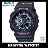 (OFFICIAL WARRANTY) Casio Baby-G BA-110TH-1A Colorful Geometric Patterns Analog Digital Black Resin Watch BA110TH BA-110TH BA110TH-1A BA-110TH-1ADR