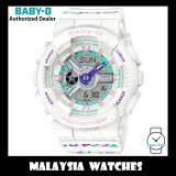 (OFFICIAL WARRANTY) Casio Baby-G BA-110TH-7A Colorful Geometric Patterns Analog Digital White Resin Watch BA110TH BA-110TH BA110TH-7A BA-110TH-7ADR