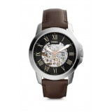 Fossil ME3100 Grant Three-Hand Automatic Brown Leather Watch