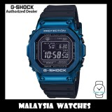 (OFFICIAL WARRANTY) Casio G-Shock GMW-B5000G-2 Made in Japan Tough Solar Multiband 6 Bluetooth Digital Blue Stainless Steel Case Resin Strap Watch GMWB5000G GMW-B5000G GMWB5000G-2 GMW-B5000G-2DR