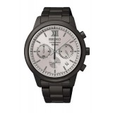 Seiko SSB141P1 Gents Chronograph Grey Dial Stainless Steel Watch (Black & Grey)