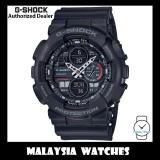 (OFFICIAL WARRANTY) Casio G-Shock GA-140-1A1 Analog Digital Boombox Inspired Series Black Resin Watch GA140 GA-140 GA140-1A1 GA-140-1A1DR