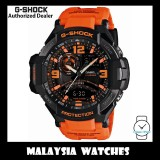 (OFFICIAL WARRANTY) Casio G-Shock GA-1000-4A Gravitymaster Twin Sensor Black Dial Orange Resin Strap Watch GA1000 GA-1000 GA1000-4A GA-1000-4ADR