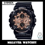 (OFFICIAL WARRANTY) Casio G-Shock GA-140GB-1A2 Rose Gold Metallic Face Analog Digital Black Resin Watch GA140GB GA-140GB GA140GB-1A2 GA-140GB-1A2DR
