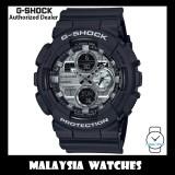 (OFFICIAL WARRANTY) Casio G-Shock GA-140GM-1A1 Silver Metallic Face Analog Digital Black Matte Resin Watch GA140GM GA-140GM GA140GM-1A1 GA-140GM-1A1DR