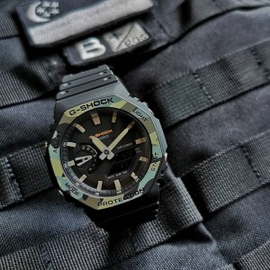 (OFFICIAL WARRANTY) Casio G-Shock GA-2100SU-1A Carbon Core Guard Camouflage Pattern Black Resin Watch GA2100SU GA-2100SU GA2100SU-1A GA-2100SU-1ADR